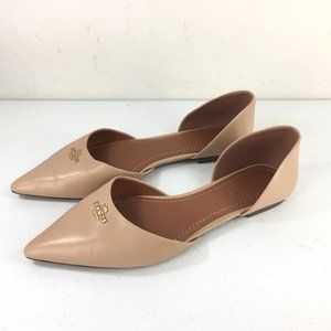Coach Shoes - Coach 8 d'orsay Leather Pointy Toe Beechwood Nude